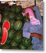 Too Hot To Sell Watermelons Metal Print