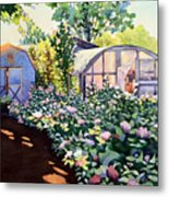 Tool Shed And The Greenhouse Metal Print