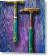 Tools On Wood 65 Metal Print