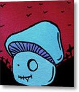 Toothed Zombie Mushroom Metal Print