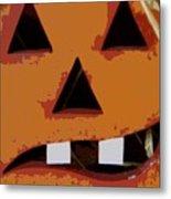 Toothy Pumpkin Metal Print