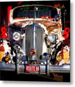 Top Model On Route 66 Metal Print