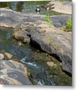 Top Of Noccalula Falls Metal Print