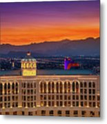 Top Of The Bellagio After Sunset Metal Print