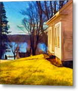 Top Of The Hill, Friendship, Maine Metal Print