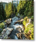 Top Of The Morning At The Top Of Myrtle Falls Metal Print