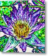 Top View Of A Beautiful Purple Lotus Metal Print