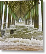 Topsail Island Pier Metal Print