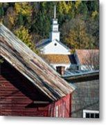 Topsham Village Vermont Metal Print