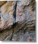 Toquima Cave Pictographs Metal Print