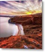 Tor Bay Sunset Metal Print