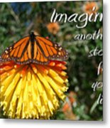 Torch Lily And Monarch Metal Print