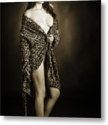 Toriwaits Nude Fine Art Print Photograph In Black And White 5105 Metal Print