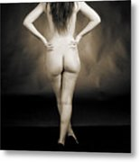 Toriwaits Nude Fine Art Print Photograph In Black And White 5123 Metal Print