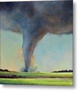 Tornado Touchdown Metal Print