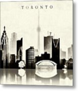 Toronto Black And White Metal Print