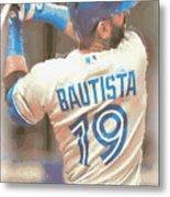 Toronto Blue Jays Jose Bautista 2 Metal Print
