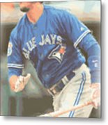 Toronto Blue Jays Troy Tulowitzki Metal Print