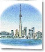 Toronto Canada City Skyline Metal Print