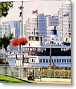 Toronto Island Ferry Arrives Metal Print
