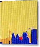 Toronto Lemon Skyline Metal Print
