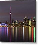 Toronto Lights Metal Print