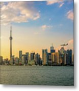 Toronto Skyline At Sunset Metal Print