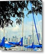 Toronto Through A Forest Of Masts Metal Print