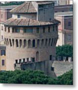 Torre San Giovanni St Johns Tower On The Ramparts Of The Walls Of The Vatican City Rome Metal Print
