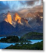 Torres Del Paine National Park, Chile Metal Print