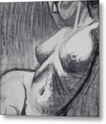 Torso 6 - Female Nude  Metal Print