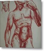 Torso Of  Michelangelo   David  Metal Print