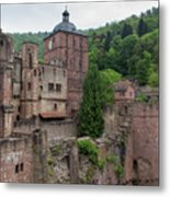 Torturm And Seltenleer Heidelberger Schloss Metal Print