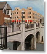 Tosa Village Bridge Metal Print