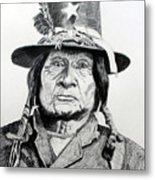 Tosawi Comanche Chief Metal Print