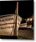 Tossa De Mar By Night Metal Print