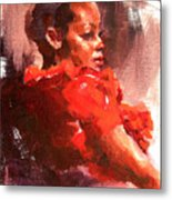 Totally Red Metal Print