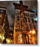 Totem In The City Metal Print