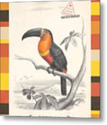 Toucan Bird Responsible Travel Art Metal Print