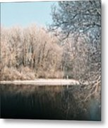 Touch Of Snow Metal Print