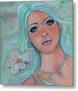 Touch Of Spring Mermaid Metal Print