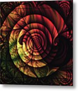 Touch Of Sunshine Abstract Metal Print