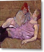 Toulouse Lautrec The Sofa Metal Print