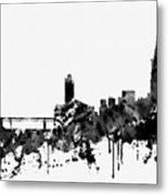 Toulouse Skyline-black Metal Print