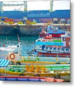 Tour Boats In Port Of Valparaiso-chile Metal Print