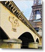 Tour De Eiffel Metal Print