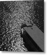 Tourboat On The Charles Metal Print