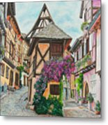 Touring In Eguisheim Metal Print
