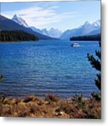 Touring Maligne Lake Metal Print