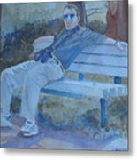 Tourist At Rest Metal Print